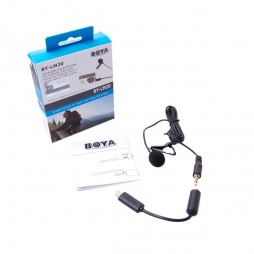 BOYA 3.5mm Clip Mikrofon + Mini USB Adapter BY-LM20 für GoPro Hero 3 3+ 4