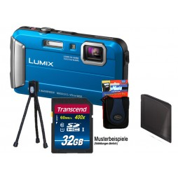 Panasonic Lumix DMC-FT30 EG-A Blau + 32GB Komplettset !