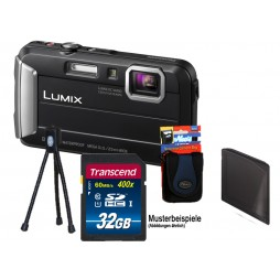 Panasonic Lumix DMC-FT30 EG-K Schwarz + 32GB Komplettset